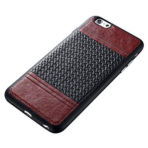 Étui en gel doux iPhone 6S Plus, Coque iPhone 6S Plus, Lifetrut Ultra Mince Doux [Motif en cuir] Housse en Caoutchouc TPU pour iPhone 6S Plus [01] E210