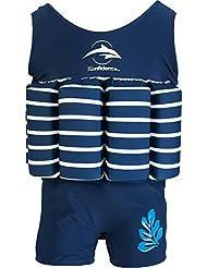 Float Suit von Konfidence, Farbe blau gestreift, Größe 1-2 Jahre