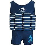 Konfidence Badeanzug mit Schwimmhilfe 4-5 Jahre Blau - Blue Breton Stripe