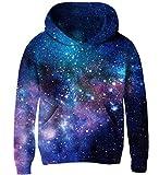 Goodstoworld 3D Hoodie Kinder Mädchen Jungen Pullover Blau Galaxy Coole Druck Lange Ärmel Kapuzenpullover Sweatshirt Kleider