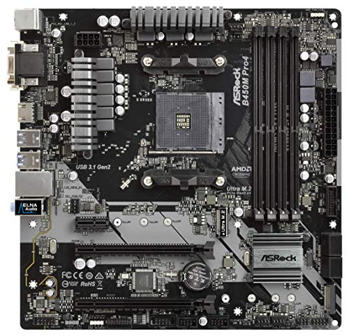 MB ASRock B450 Pro4 AM4 ATX D-Sub/HDMI/DP DDR4 Retail