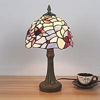 camera da letto lampada da tavolo in vetro colorato fiore