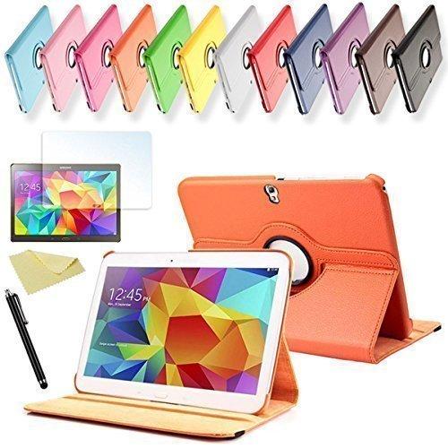 SVS 3in1 SET Tab S 10.5 360° Schutzhülle + Folie + Pen Samsung Galaxy Tab S SM-T800 / T801 / T805 Tasche Etui (Orange)