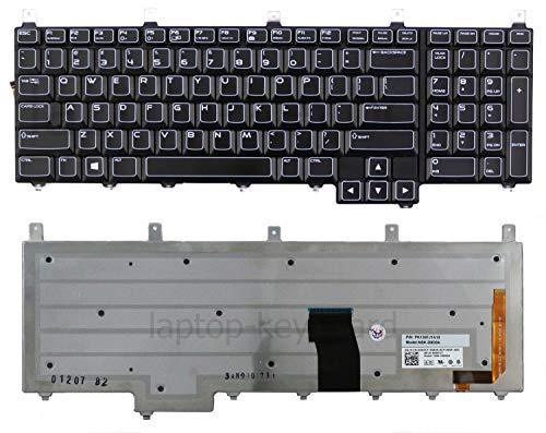 Laptopkey_eu QWERTY US-Tastatur mit blauem Anschlussklebeband für Dell Alienware M17X R1 R2 R3 R4 M18x R1 R2 + Service Tool Set (Laptop Dell Blau)