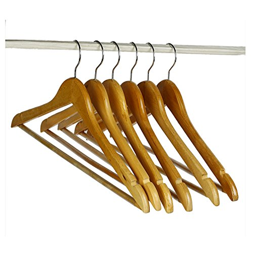 Coat Hanger-Best For Coats-Suits-Jackets-Wooden 18 inch width- Best for Coat-Suit-Jackets,Clothes-Pack of 6