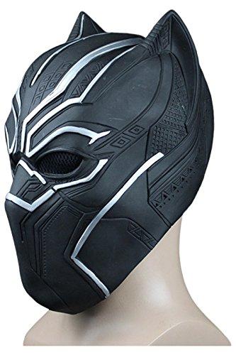 War Captain Panther America Kostüm Civil Black - MingoTor Schwarze Katze Halloween Latex Maske Karneval Cosplay