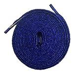 Good.news Lacets Plats, Lacets Paillettes, Lacets de Chaussure 115cm Bleu Royal