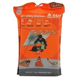 51vzZXXt9cL. SS300  - Adventure Medical Kits Sport Utility Blanket, Orange, 5 x 7 feet