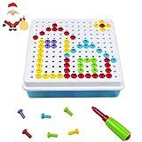 Mosaik Steckspiel Plastik mit Schraube 150 Teilen Spielzeug für Kinder 3 Jahre