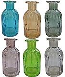Dekoflasche Glasflasche 6 Stück Korkenglas Korkengläser Deko Apotheke Flasche Likörflasche Apothekerglas Vintage Glas