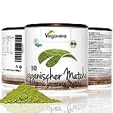 BIO Matcha Tee aus Japan | 200g | PREMIUM BIO Qualität | Smoothies – Shakes – Matcha Latte | Hochwertige Aroma-Schutzdose | Schadstoff geprüft | Vegavero: from Nature - with Passion - for You!