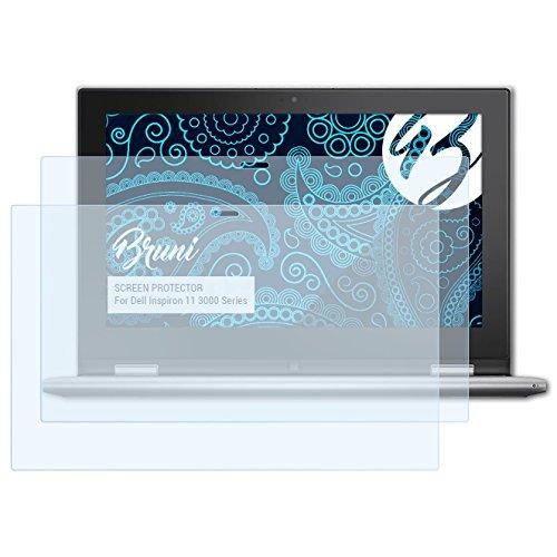 Bruni Schutzfolie für Dell Inspiron 11 3000 Series Folie, glasklare Displayschutzfolie (2X)