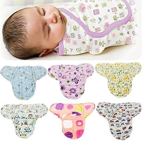 mark8shop doux pour nouveau-né bébé emmailloter SwaddleMe Couverture pour bébé