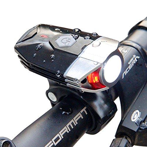 Luz frontal recargable LED USB para bicicletas    Nueva recarga:  - 3 horas para recargar - Sistema automático y automático de apagado tan pronto como se haya recargado por completo - La carga inteligente garantiza una larga duración de la batería  ...
