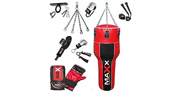 body bag angled boxing bag choice of colour and package FREE CHAIN Maxx 4FT uppercut punch bag