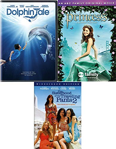 Princess Dolphin Friends Triple Feature The Sisterhood of the Traveling Pants 2 DVD + Dolphins Tale & A Modern Fairytale ABC Family Movie 3 Pack