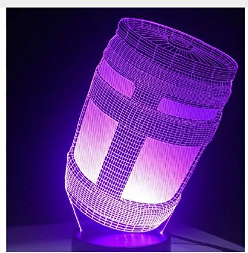 Leselampe Nachttischlampe Tischlampe Schreibtischlampe Tischleuchte 3D Led Lampe 7 Farben Touch Switch Tisch Schreibtisch Licht Lava Lampe Acryl Illusion Raum Atmosphäre Beleuchtung Spiel Fans Ge