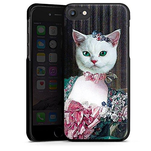 Apple iPhone X Silikon Hülle Case Schutzhülle Kitty Cat Katze Madame Hard Case schwarz
