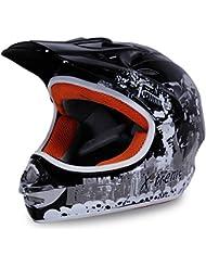 Motorradhelm X-treme Kinder Cross Helme Sturzhelm Schutzhelm Helm für Motorrad Kinderquad und Crossbike in schwarz
