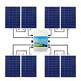 ECO-WORTHY ECO-WORTHY 960W IP65 Gitter Krawatte Solar Panel Kit: 8PC 120W Solar Panel + 1200W 24V-220V wasserdichte Wechselrichter für Haushalt