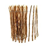BooGardi Kastanienzaun in 28 Größen · Staketenzaun 120 x 500 cm (Lattenabstand 3-5 cm) aus Haselnuss · Rustikaler Gartenzaun als Rolle mit gespaltenen Staketen