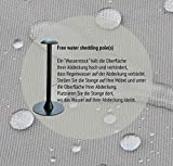 Raffles Covers NW-RFS7575 Schutzhülle für Loungetisch 75 x 75 H: 45 cm Schutzhülle für Lounge Tisch, Hocker Abdeckung, Schutzhülle Hocker
