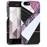 kwmobile Cover per Apple iPhone SE / 5 / 5S - Custodia Rigida in plastica Dura - Hard Case Back Cover Protettiva per Smartphone Apple iPhone SE / 5 / 5S