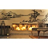 Vinilo decorativo pegatina pared, cristal, puerta (Varios colores a elegir)- cuadro paisaje chino