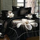 Lujo Flores 3d juegos de ropa de cama funda de edredón pétalos de bonito moderno Queen hoja de cama juegos ropa de cama Fundas