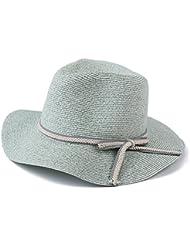 Ocio Mujer Panamá corona plana soulful flat toldos Butterfly Beach sun formal de los sombreros de paja y menta verde