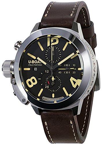 U-boat Classico Herren Uhr analog Automatik mit Leder Armband 8075