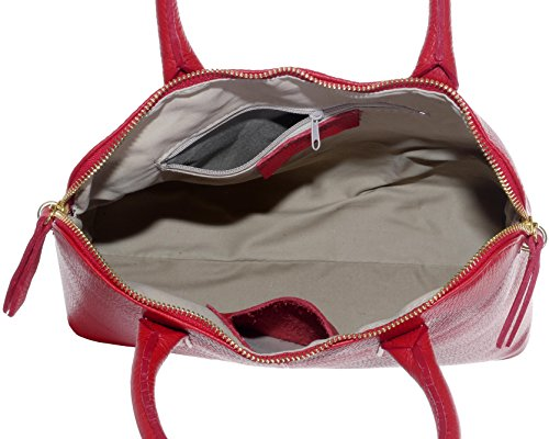 Bajo Precio En Línea Manchester Gran Venta Italiano martellata Bowling stile borsetta Tote Grab Bag o borsa a tracolla in pelle.Include una custodia protettiva marca Rosso Venta En Línea De Envío Bajo Barato Barato yaPyOwSMI8