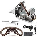 KKmoon Grinder Mini Electric Belt Sander DIY Polishing Grinding Machine Cutter Edges Sharpener
