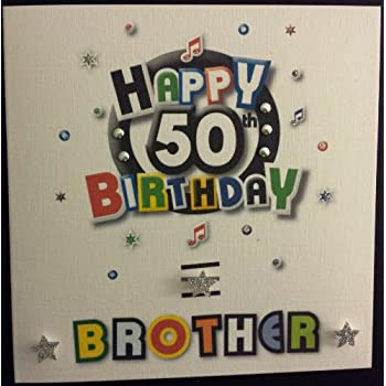 Happy Birthday Card Brother 50th