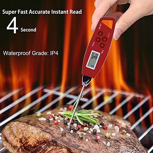 Beauty ZQ Neue BBQ Thermometer Instant Lesen Wasserdicht Wiederverwendbare Lebensmittel Digitale Fleischthermometer Küche Kochwerkzeug Sonde Präzision Schnelle Temperaturmessung Werkzeug (Thermometer Wiederverwendbare Digitale)
