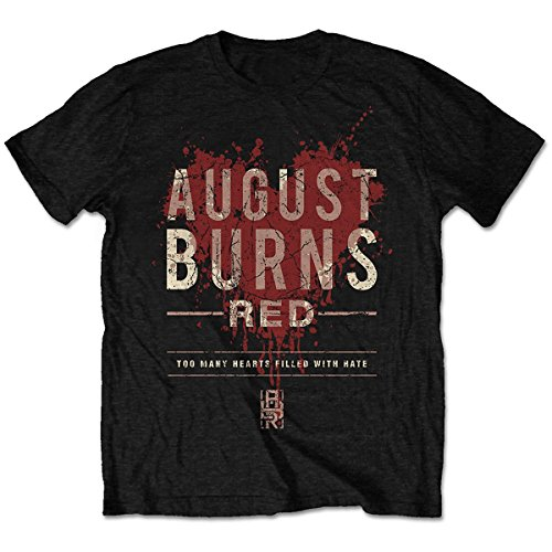 August Burns Red Heart Filled Mens Blk T Shirt: Large - August Burns Red-shirts