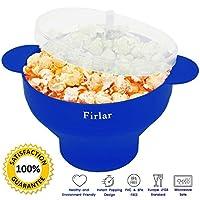 Firlar Microwave Popcorn Popper Sturdy Convenient Handles - Silicone Popcorn Maker - Co...