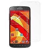 atFolix Panzerschutzfolie für Samsung Galaxy S4 Active Panzerfolie - 3 x FX-Shock-Antireflex blendfreie stoßabsorbierende Displayschutzfolie