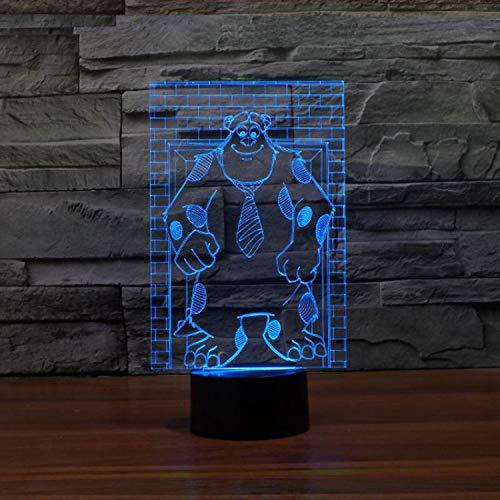Acryl Hause Nacht Touch Nachtlicht Schreibtisch Tisch Haus Dekor 7 Farbe Led Ändern Junge Kind Spielzeug Usb Tragbare Visuelle 3D Tier Bär