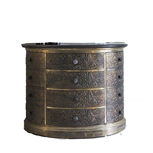 Antik Metall Brust von Schubladen mit Granit Top (Schubladen Metall-brust)