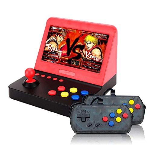 Peedeu Console di Gioco Portatile,Retro Arcade Mini con 2 PCS controllori,7 Pollici Videogioco Portatile con 3000 Videogiochi Classici,buoni Regali per Bambini e Adulti (Incorporato 2200mAh)