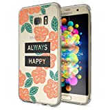 NALIA Handyhülle für Samsung Galaxy S7 Edge, Slim Silikon Motiv Case Hülle Cover Crystal Schutzhülle Dünn Durchsichtig, Etui Handy-Tasche Backcover Transparent Bumper, Designs:Always Happy
