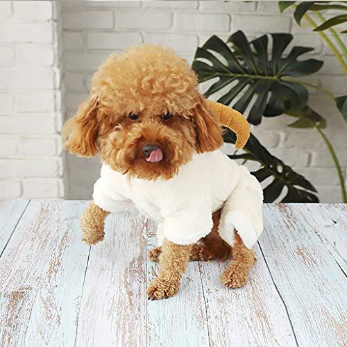 (ABLJ clothes for pets Haustier Kleidung Hund Kleidung Kleiner Hund Teddybär Herbst und Winter Modelle Haustier liefert Katze Kleidung -S)
