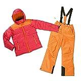 Mädchen Skianzug Skijacke & Skihose Set rot-orange Snowboardanzug (140)