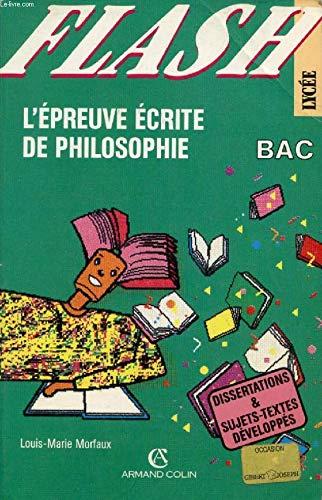 L'Epreuve écrite de philosophie au baccalauréat