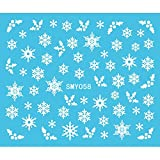 Coomir Christmas Nail Art Water Transfer Decals Snowflakes Nail...