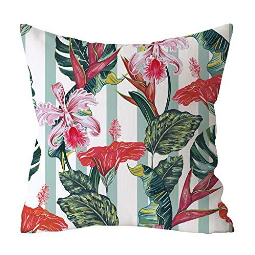 YWLINK Tropicales Plantas La Hoja Verde Imprimió