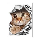Neuheit Design 3D PVC DIY Wandaufkleber Tier Katze/Hund Gedruckt Bad Wc Wand Klebe Familie Kunst Wandaufkleber