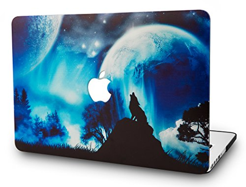 KECC MacBook Air 13 Retina Zoll Hülle (2019/2018, Touch ID) Schutzhülle Case Cover MacBook Air 13.3 {A1932} (Wolf)
