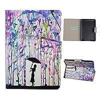 Funda Kindle Paperwhite Rosa Schleife Premium Elegante Carcasa de cuero sintético para el Amazon Kindle Paperwhite en diseño patrón multicolor con un práctico cierre magnético